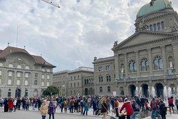 Manif à Berne contre les mesures de lutte contre le coronavirus