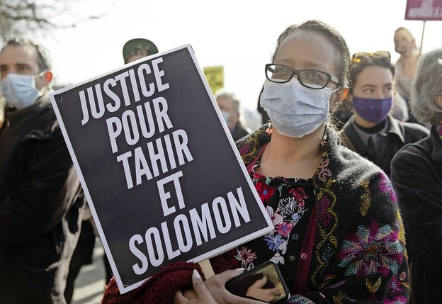 Le 24 février à Genève, une manifestation s'est tenue en soutien à Solomon Arkisso et aux autres migrants ayant fait l'objet d'un renvoi forcé. Keystone