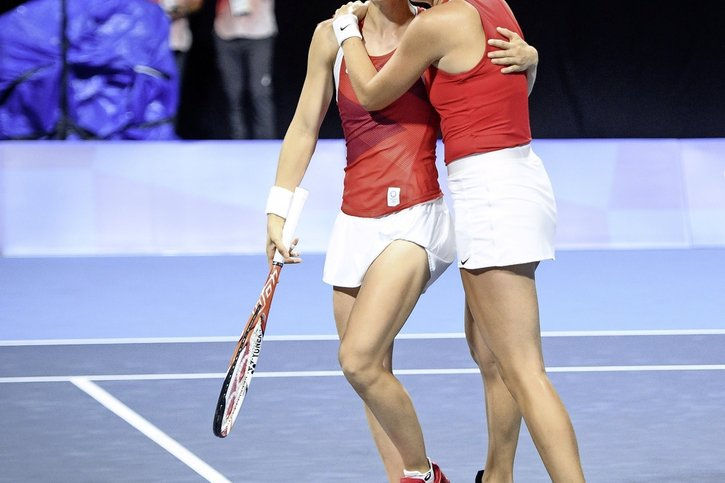 Belinda Bencic voit double